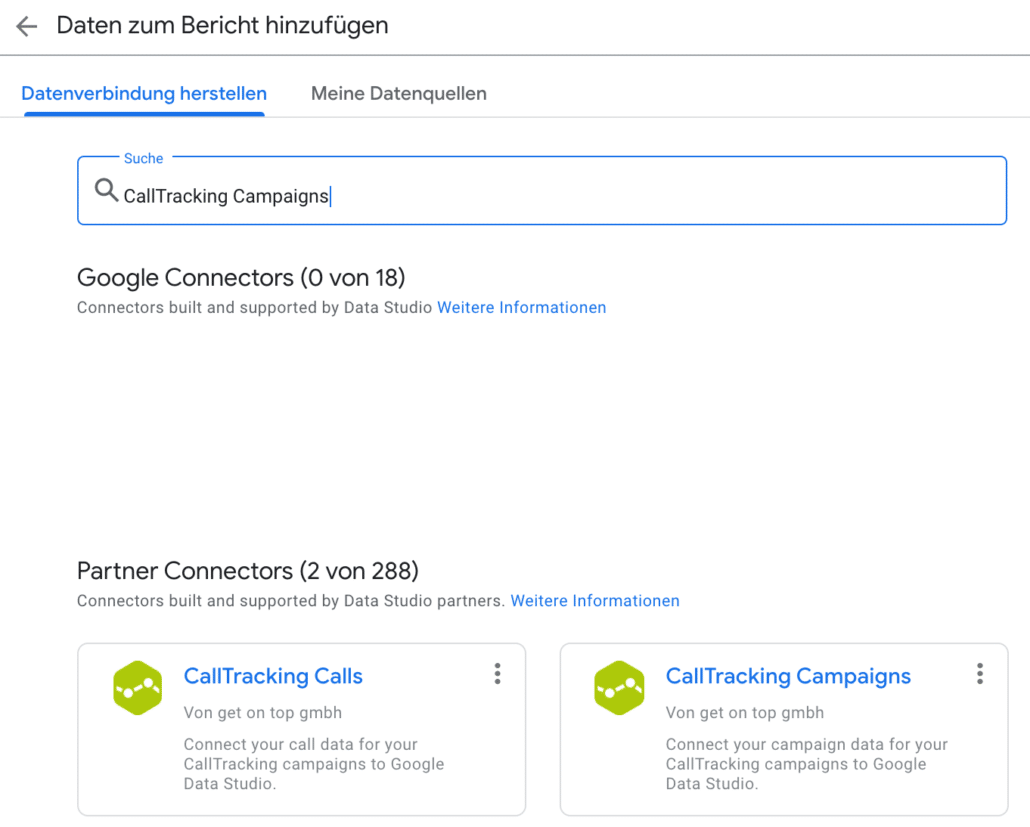 CallTracking Campaigns Connector